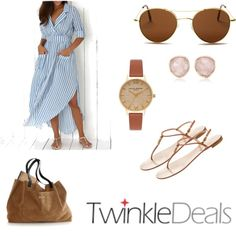 A fashion look from August 2016 featuring Giuseppe Zanotti sandals, Mark & Graham tote bags and Olivia Burton watches. Browse and shop related looks.