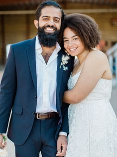 This adorable happy couple struck the most natural pose for wedding photos after their elopement at the evergreen brickworks in downtown toronto Real Couples, Cute Couples, Just Married, Getting Married, Engagement Photography, Wedding Photography, Downtown Toronto, Wedding Vendors, Evergreen