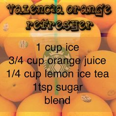 Starbucks Valencia Orange Refresher recipe!