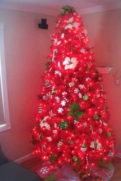 Gallery For > Red Christmas Trees