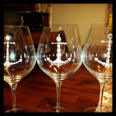 My painted wine glasses