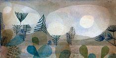 """Paul Klee über den Wandel in der Kunst: """"Früher schilderte man Dinge, die auf der Erde zu sehen waren, die man gern sah oder gern gesehen hätte. Jetzt wird die Relativität der sichtbaren Dinge offenbar gemacht und dabei dem Gedanken Ausdruck verliehen, daß das Sichtbare im Verhältnis zum Weltganzen nur isoliertes Beispiel ist und das andere Wahrheiten latent in der Überzahl sind""""."""
