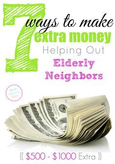 Making extra income is easy when you have a plan. Learn 7 ways you can make money by helping out your elderly neighbors. You could easily make $500-$1000 extra per month!