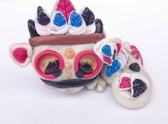 """Polymer Clay """"Native American"""" Dragon Twisted & Troublesome Friends November 2014"""