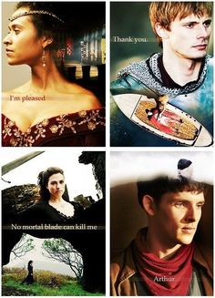 """I love how Merlin's """"thing that describes him"""" here is 'Arthur', because he is so selfless and caring in his service for Arthur, and they are the best friends for each other."""