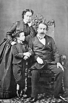 The Emperor and Empress of the French with their only son, the Prince Imperial.