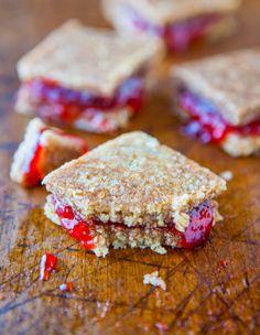 Peanut Butter and Jelly Coconut Cashew Sandwich Cookies (no-bake, vegan, gluten-free)