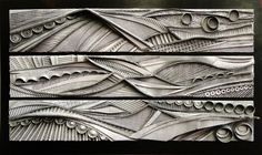 """Astral Travels"" triptych each 10"" x 50"" wide $800"