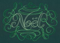 Calligraphic Noel | Urban Threads: Unique and Awesome Embroidery Designs