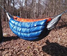 "This Instructable details how to make your own Down Hammock Underquilt for easy, efficient insulation in a hammock.Stats77"" x 45"" (""full"" length)18.2 oz with suspension. 20*F (or below) temperature rating (3+"" loft)Why an Underquilt?In the camping and backpacking world, hammocks are becoming a popular alternative to tents. There are many potential advantages to hammocks, but one common complaint/disadvantage is the warmth of a hammock as temperatures drop. Because th..."