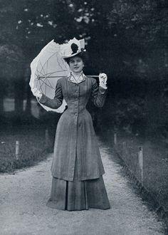 Walking ensemble, early 1900s