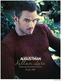 Kellan Lutz Wears Burberry for August Man October 2014 Photo Shoot