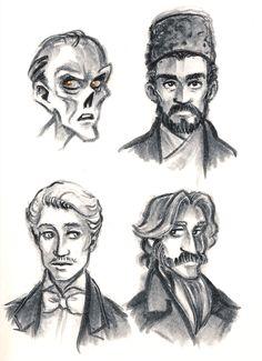 Erik, the Daroga, Raoul and Philippe