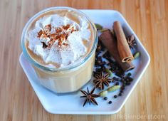 This vegan chai latte is made with homemade chai concentrate.