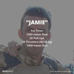 """This British Hero WOD, """"Jamie,"""" also known as """"KP,"""" is dedicated to Cpl Jamie Kirkpatrick (32) 101 Engineer Regiment who was shot in Afghanistan on 27/06/2010 (8 years ago today). We first found the workout posted by CrossFit Essex as """"Jamie"""" for their annual WODvember event in 2015. In 2016 @britishherowods posted the same workout by the name of """"KP."""""""