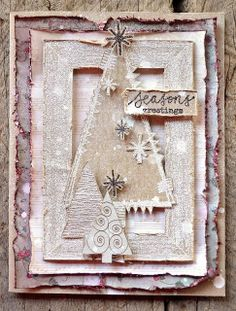 Darkroom Door: Layered Stitched Christmas Cards ~How totally gorgeous is this!