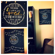 my diy mumford & sons quote painting for the boyfriend's apartment