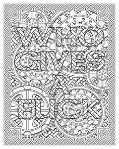 sassy sayings printable coloring book for adults curse