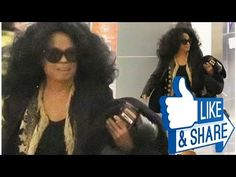 Supreme comfort! Diana Ross 73 touches down at LAX in fluffy boots and shades after a festive bre