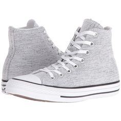 Converse Chuck Taylor All Star Sparkle Knit Hi (Black/White/Black)... ($65) ❤ liked on Polyvore featuring shoes, sneakers, black shoes, black white sneakers, converse high tops, high top sneakers and black and white sneakers