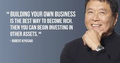 """""""Building your own business is the best way to become rich.  Then you can begin investing in other assets."""" -Robert Kiyosaki  -->Learn about the Vasayo opportunity at https://spreadhealthandwealth.vasayo.com/timing"""