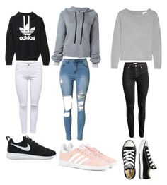 """Untitled #11"" by marion-bosgraaf on Polyvore featuring Unravel, adidas, NIKE, adidas Originals and Converse"