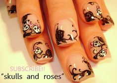 Beautiful_ 'Day _of_ the _Dead'_ Nail_ Art_ Designs __25