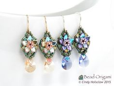 Bead Origami: New Beading Video and Kits: Dainty PRAW Flower Charms