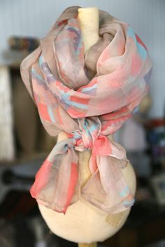 Mint and Navy Cross Infinity Scarf www.gugonline.com
