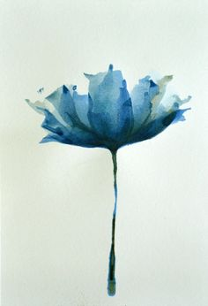 Original Fine Art Flower Ink Drawing on acid by Simple Art Studio  ❤ Support independent artists today! ❤