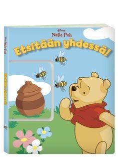 Nalle Puh: Etsitään yhdessä! -kirjassa on oikeastaan kaksi kirjaa: Kun aikuinen lukee tarinaa, lapsi pääsee auttamaan Puhia hakemalla esille oikean aukeaman pikkukirjasta. Mihin tahansa Nalle Puh menee, hänellä riittää aina etsittävää.  Löydättekö yhdessä lapion, saappaat ja Ihaan hännän? Winnie The Pooh, Disney Characters, Fictional Characters, Fantasy Characters, Pooh Bear, Disney Face Characters