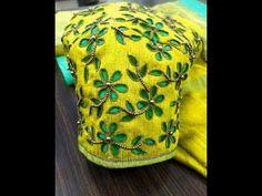 Amazing Cut Work Designer Blouse with Normal Stitching Needle- Same Like Aari/ Maggam work Mirror Work Saree Blouse, Cut Work Blouse, Hand Work Blouse Design, Stylish Blouse Design, Aari Work Blouse, Cutwork Blouse Designs, Wedding Saree Blouse Designs, Blouse Neck Designs, Hand Embroidery Patterns Flowers