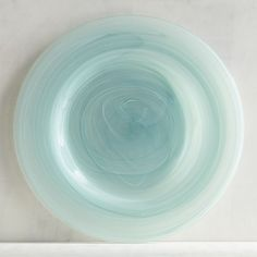 Turquoise Alabaster Glass Salad Plate