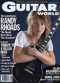 Randy Rhoads on the cover of Guitar World June 1987