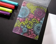 Hi Everyone ~ I couldn& wait to share this fun tutorial with you using some great products and sets from The Rubber Cafe ! Card Making Tips, Card Making Tutorials, Card Making Techniques, Gelato, Tarjetas Diy, Embossing Techniques, Embossing Folder, Embossing Machine, Card Companies