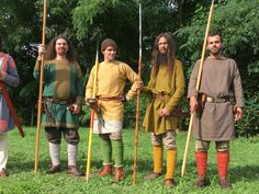 Faithful reconstruction of the outfits and armaments of four Frankish warriors of modest condition according to archaeological excavations of 4 graves in the Merovingian necropolis of Goudelancourt les Pierrepont (Aisne)