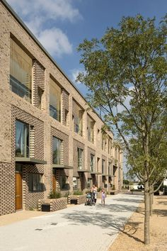 Abode at Great Kneighton is the initial phase of a major development adjacent to the new Addenbrookes Medipark on Cambridge city's southern fringe which will provide around 270 homes, extensive open space as well as education, sports and. Brick Masonry, Brick Facade, Brick Design, Facade Design, Brick Architecture, Residential Architecture, Building Facade, Building Design, Brick Detail