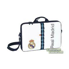 Foto Real Madrid - Funda Ordenador Portatil 15,6' Fotos Real Madrid, Shopping, Zippers
