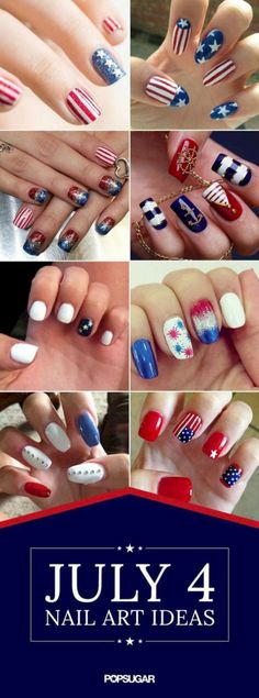 29 fantastic bright summer and fourth of july nail design ideas
