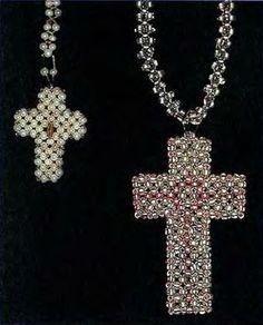 Beaded Cross PATTERN объемный крестик из бисера