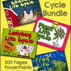 Life Cycles, Chickens, Ladybugs, Plants, Frogs, 200 pages $ Life Cycle Bundle Video   In this bundle: Chickens:  Interactive PowerPoint about chicke...