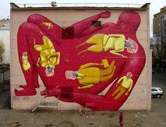 Urban mural by Interesni Kazki