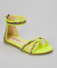 Another great find on #zulily! Yellow Julia Gladiator Sandal #zulilyfinds
