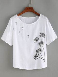 T Shirt,Anchor,Spring Blossoms Feathers S-XXL Custom Baseball Short Sleeves