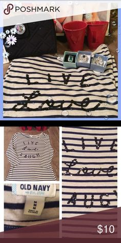Live, love and laugh top Sequins letters length is 25 bust is 19 16 sleeves Tops Tees - Long Sleeve
