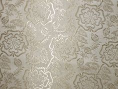 100% Pure Silk Brocade fabric Golden Cream Colour