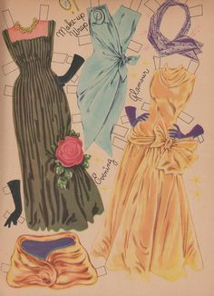 """Paper dolls...I spent many hours """"designing"""" & making my own creations."""
