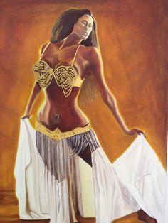 Danzatrice del ventre acrilico su tela