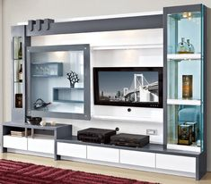 Tv Unit Furniture Design, Tv Stand Furniture, Tv Unit Interior Design, Wood Furniture Living Room, Modern Furniture, Wall Unit Designs, Living Room Tv Unit Designs, Tv Showcase Design, Wall Unit Decor