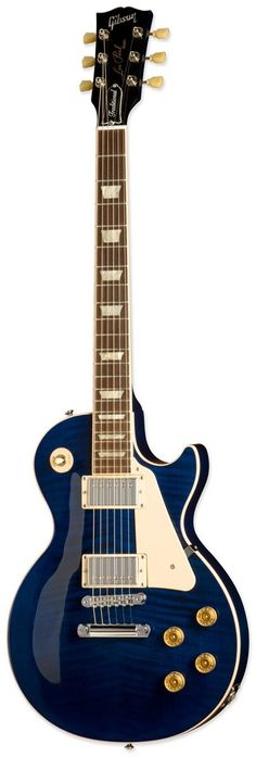 Chicago Blue Gibson Les Paul Traditional Plus I'd have to try both the Traditional and Standard to really say, but from what I read, this is what I'd prefer.